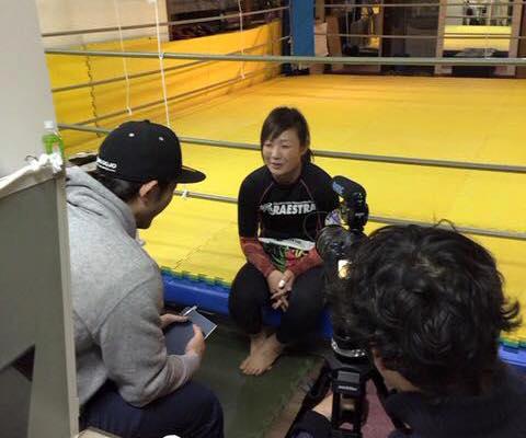 女子格闘技の取材