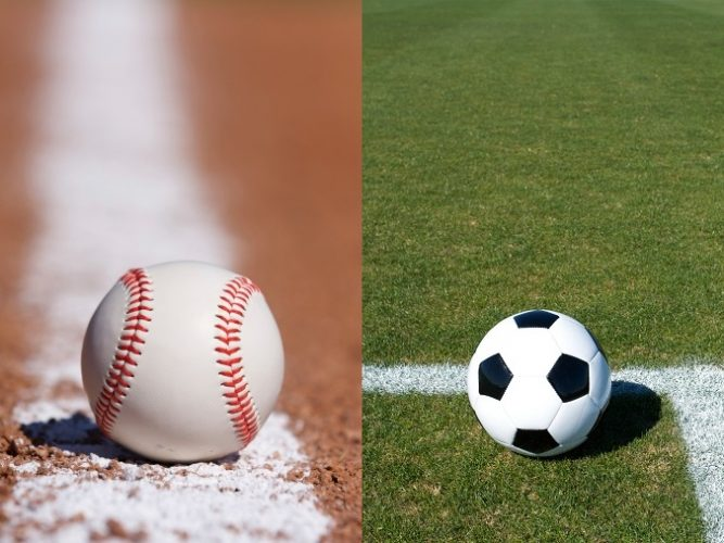 野球とサッカー