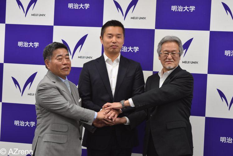 池田純氏の学長特任補佐兼スポーツアドミニストレーター就任会見