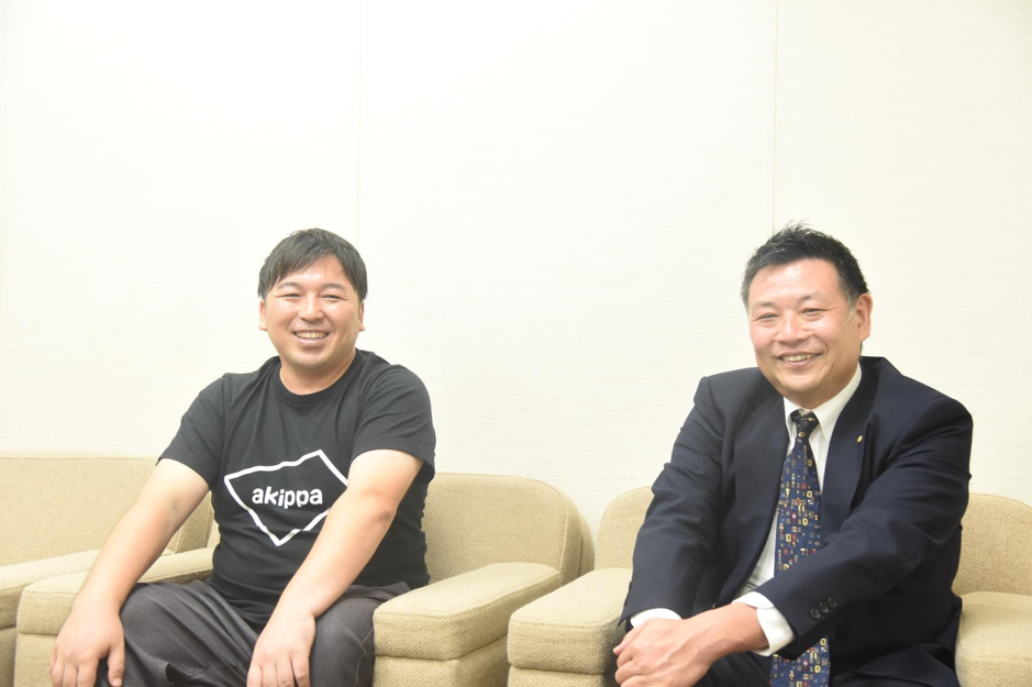 akippaの金谷元気さん、マコトフードサービスの大橋義則さん